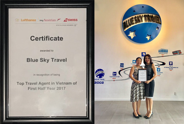 TOP TRAVEL AGENT IN VIETNAM OF FIRST HALF YEAR 2017 -  LUFTHANSA
